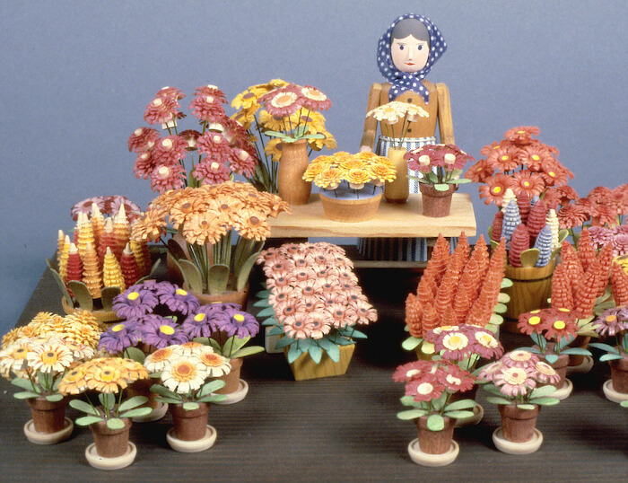 Flowers made from wood