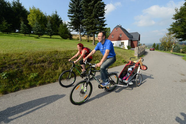 Cycling in Seiffen