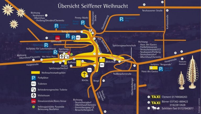 Seiffen Christmas map